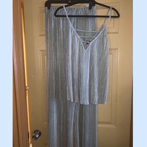 Shimmery pant set